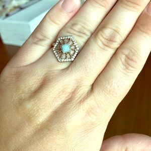 Chloe + Isabel Portico Hexagon Ring Size 7